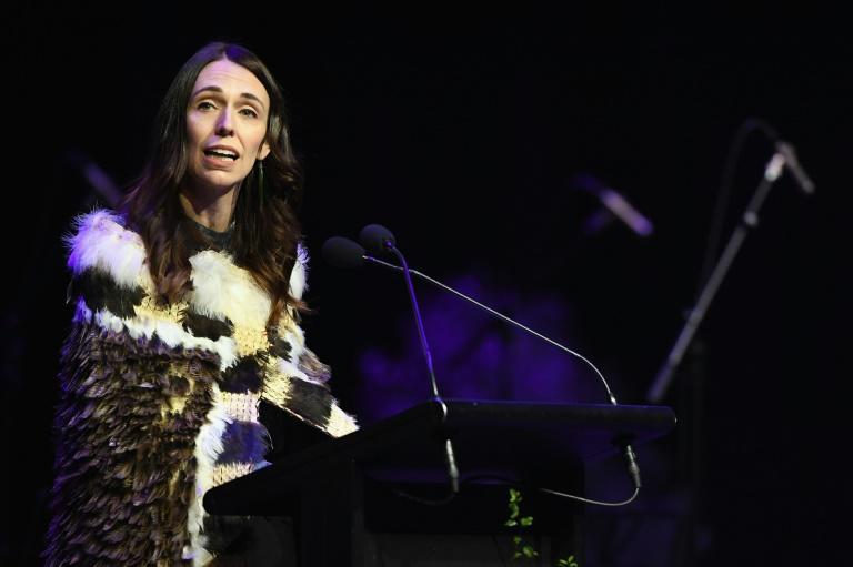 New Zealand Prime Minister Jacinda Ardern speaks during a national remembrance service to mark two years since the Christchurch mosque attacks on March 15, 2019