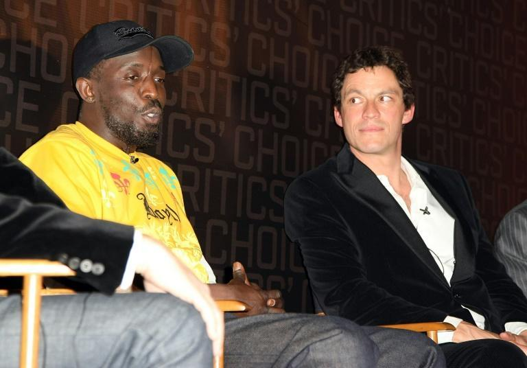 Actors Michael K. Williams (L) and Dominic West (R) of 'The Wire' are seen in New York in March 2008 (AFP/Andrew H. Walker)