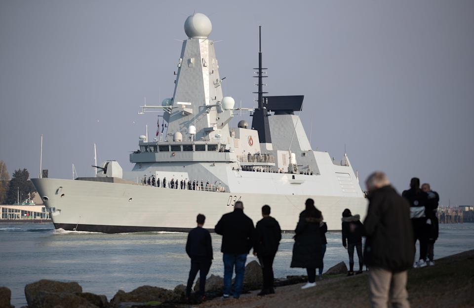 HMS Diamond developed problems while part of the carrier strike group (Andrew Matthews/PA) (PA Wire)