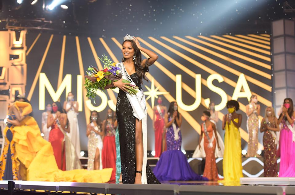 Asya Branch, a University of Mississippi senior from Booneville, smiles for the cameras after being named Miss USA 2020 on Nov. 7 in Memphis, Tennessee.