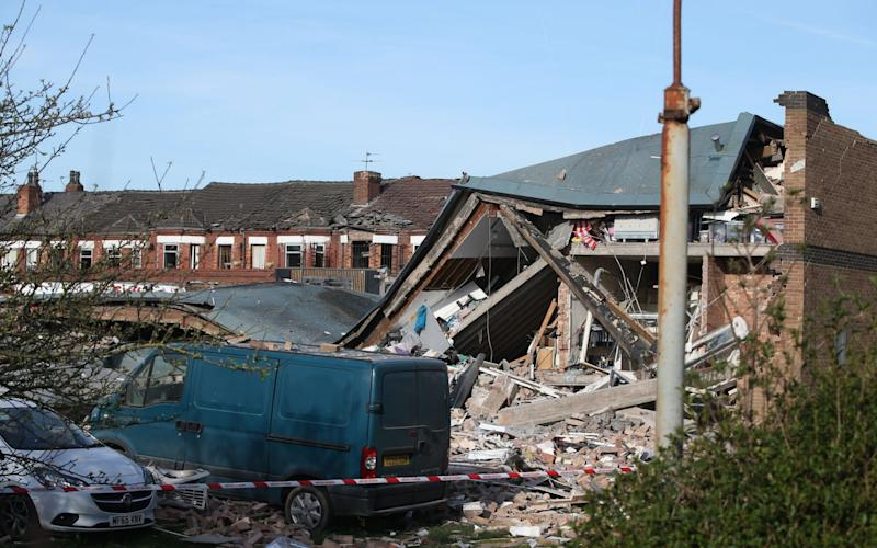 Two people have been seriously injured in the gas explosion - Credit: Danny Lawson