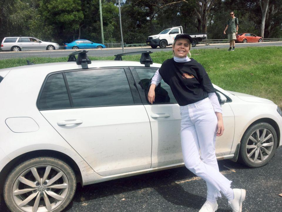 Bianca freaked out and drove for 20 minutes. Photo: Caters News