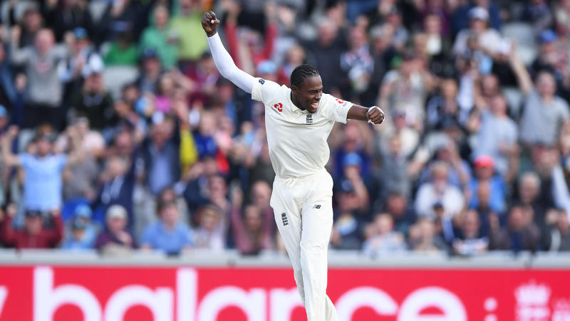 The ECB had allegations racist songs - directed at Jofra Archer - and sexist abuse by spectators was heard during the fourth Ashes Test at Old Trafford. (Getty Images)