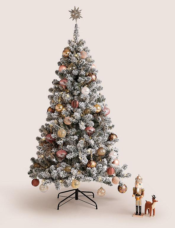 6ft Lit Snowy Christmas Tree. (Marks & Spencer)