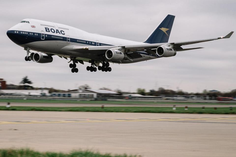 Back to the future: the British Airways 747 in the old BOAC livery: Stuart Bailey/British Airways