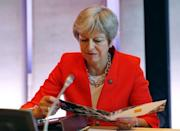 Britain's Prime Minister Theresa May attends the European Union leaders informal summit in Salzburg, Austria, September 20, 2018. REUTERS/Leonhard Foeger