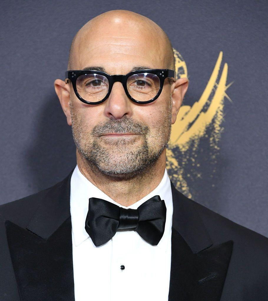 <p><strong>As seen on Stanley Tucci</strong></p><p>Is this a purposeful bald style or has he just not shaved in a few days? It's impossible to tell and that's precisely the point. The stubble provides contrast to the shiny scalp and tempers the look. There's an ever-so-subtle shape just in the goatee area, suggesting that Tucci left that area with a day or two more growth on purpose, but it's blended seamlessly for a casual look.</p>