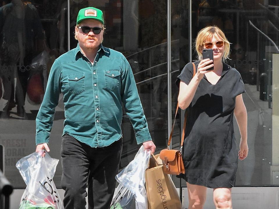 APRIL 04: Kirsten Dunst and her husband, Jesse Plemons are seen on April 04, 2018 in Los Angeles, California.