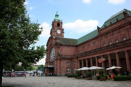 "FILE PHOTO:  The Deutsche Bahn main train station ""Hauptbahnhof"" in Wiesbaden"