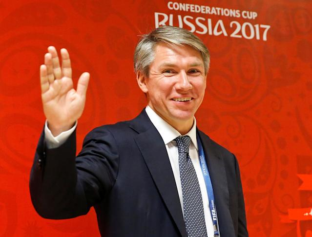 FILE PHOTO: Football Soccer - Confederations Cup 2017 official draw - Kazan, Russia - 26/11/16. Russia's Alexey Sorokin arrives. REUTERS/Maxim Shemetov/File Photo