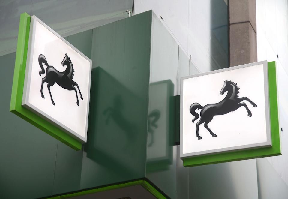 A branch of Lloyds Bank on Oxford Street, central London.  (Photo by Yui Mok/PA Images via Getty Images)