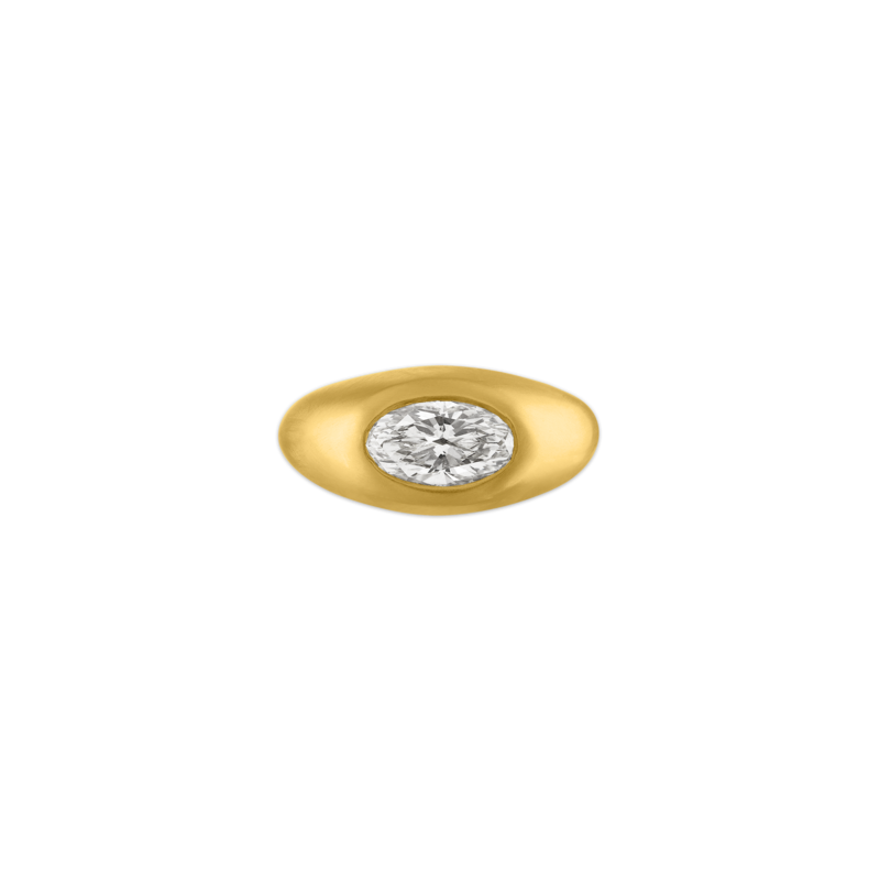 """<p>prounisjewelry.com</p><p><strong>$12600.00</strong></p><p><a href=""""https://www.prounisjewelry.com/collections/rings/products/oval-diamond-gaea-roz"""" rel=""""nofollow noopener"""" target=""""_blank"""" data-ylk=""""slk:Shop Now"""" class=""""link rapid-noclick-resp"""">Shop Now</a></p><p>Jean Prounis uses ancient goldsmith techniques to create rings set with antique diamonds in recycled 22-karat gold. These timeless pieces have a richness in color and texture that can only be found in handmade pieces, and the artist's hand touch give them an instant heirloom quality.</p>"""