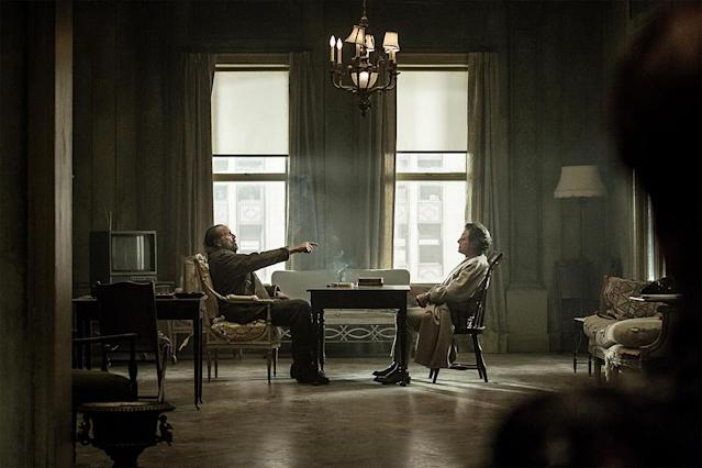 <p>Peter Stormare as Czernobog and Ian McShane as Mr. Wednesday in Starz's <i>American Gods</i>.<br><br>(Photo: Starz) </p>