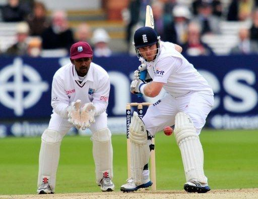 A stand of 132 between Alastair Cook and Ian Bell (pictured) took England to the brink of victory