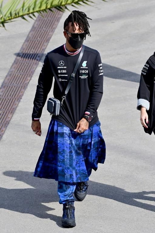 """Lewis Hamilton says fashion gives him """"another outlet"""" away from the pressure of Formula One (AFP/Andrej ISAKOVIC)"""