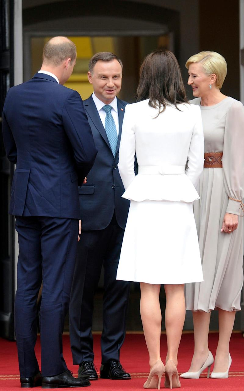 A view of the back of Kate's coat - Credit: AP