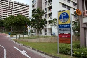 HDB with parking lot