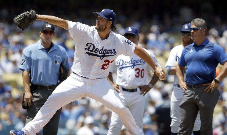Clayton Kershaw will miss time again with a back injury. (AP Photo)