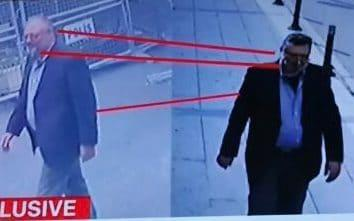 A Saudi operative allegedly exited the consulate after Mr Khashoggi was killed wearing his clothes, a fake beard, and glasses - CNN