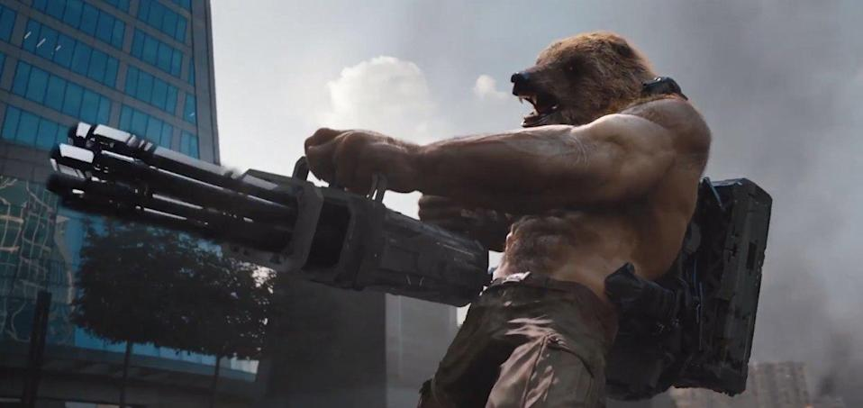 """<p>The recent Russian superhero movie brings a whole new meaning to the words """"see it to believe it,"""" especially when it comes to their gun-toting werebear – half man, half bear – portrayed by actor Anton Pampushnyy. (Credit: Sony) </p>"""