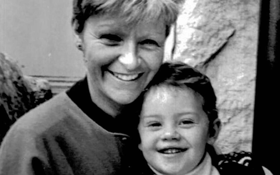 Veronica Guerin with her son Cathal - PA