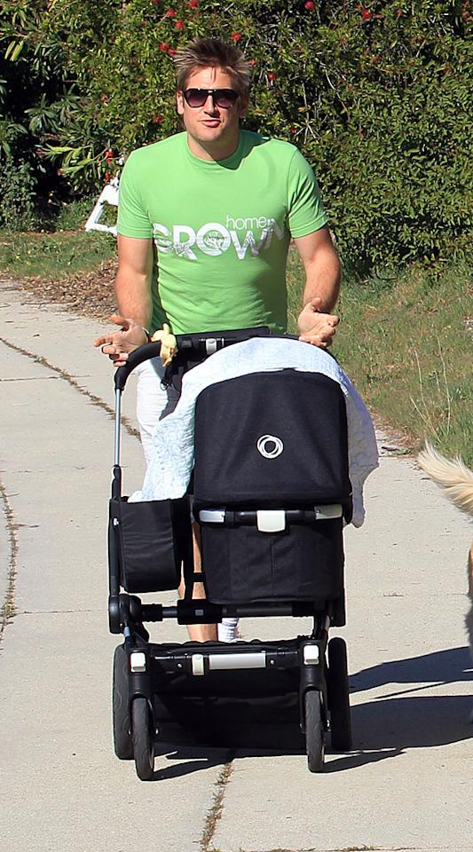 """<p><span style=""""font-size:11.0pt;"""">While Curtis Stone isn't preparing meals for his son quite yet, he's doing just about everything else! The Australian chef, who welcomed Hudson Stone with girlfriend Lindsay Price on November 6, says he doesn't mind losing sleep over the baby boy. Asked by Rachael Ray if the infant is sleeping through the night, the 36-year-old """"Around the World in 80 Plates"""" star answered, """"Oh no. He sleeps through the night in increments. [But] you know what? He's so cute I don't care."""" Stone has said he's changed for the better since becoming a father. """"</span>I'm much more selfless and humble and you're reminded about what life's really about,"""" he told the Australian paper <em>Herald Sun</em>. """"You love your kid so much that you just want to be a brilliant role model for them. It cleans up your act a bit. Not that I was going to AA meetings and robbing banks, but it broadens you out as a human being.""""<span style="""" font-size:11.0pt;""""></span></p>"""