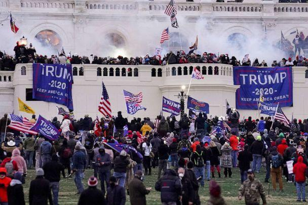 PHOTO: In this Jan. 6, 2021 file photo rioters storm the Capitol in Washington, D.C. (John Minchillo/AP, FILE)