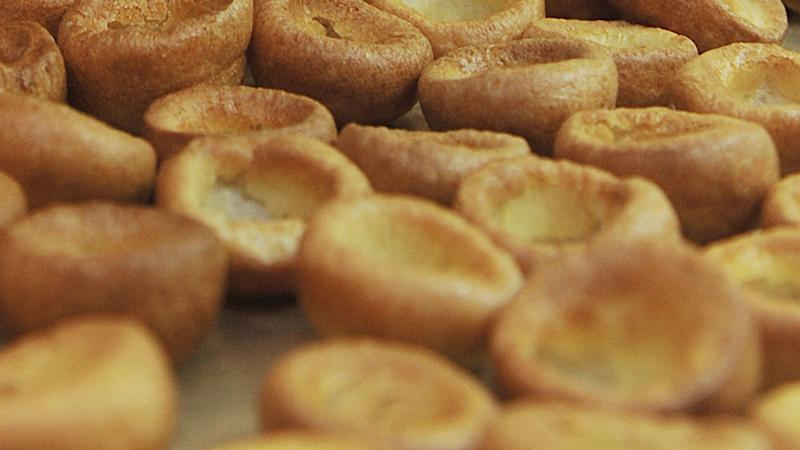 Yorkshire pudding on the menu at Masters dinner