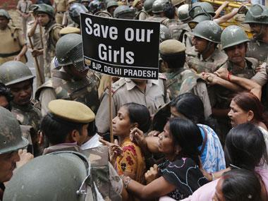 File image of a protest against rapes. Reuters