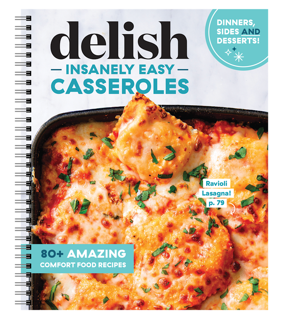 """<p>delish.com</p><p><strong>$24.95</strong></p><p><a href=""""https://store.delish.com/delish-insanely-easy-casseroles.html"""" rel=""""nofollow noopener"""" target=""""_blank"""" data-ylk=""""slk:SHOP NOW"""" class=""""link rapid-noclick-resp"""">SHOP NOW</a></p><p>These crazy-delicious casserole recipes are easy enough to prepare any night of the week — and impressive enough to serve for a special occasion. </p>"""