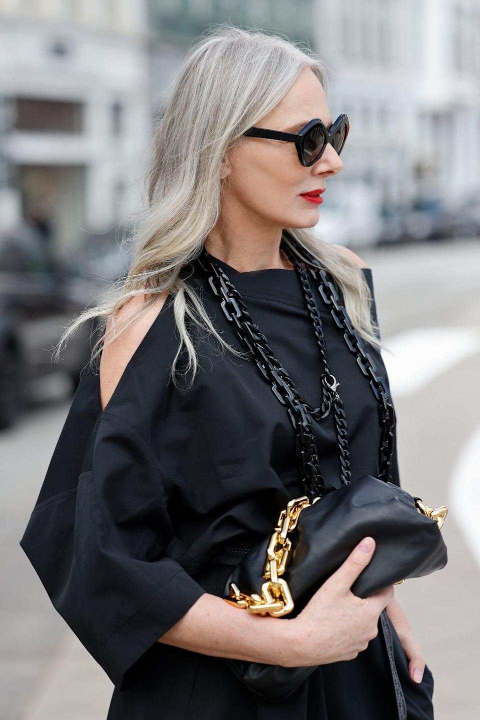 Shoppers With Gray and White Hair Credit Their Glossy