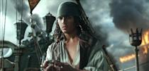 <p>Captain Jack Sparrow (Johnny Depp) in a flashback scene, made young with the help of CGI in 'Pirates of the Caribbean: Dead Men Tell No Tales' (Photo: Disney)<br><br><br> </p>  <p>Cool vs. Ghoul</p><p> Geoffrey Rush as Barbossa (left) faces off with Javier Bardem as Captain Salazar in 'Pirates of the Caribbean: Dead Men Tell No Tales' (Photo: Disney)<br><br> </p>  <p>Keep Your Eye on the Sparrow</p><p> Johnny Depp as Captain Jack Sparrow in 'Pirates of the Caribbean: Dead Men Tell No Tales' (Photo: Disney)<br><br> </p>  <p>The New Recruit</p><p> Brenton Thwaites plays Henry, a young sailor, in 'Pirates of the Caribbean: Dead Men Tell No Tales' (Photo: Disney)<br><br> </p>