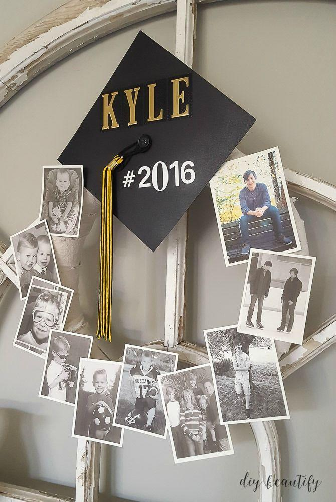 "<p>Collect all of those class photos captured over the years and add them to this fun DIY wreath. If you want to display it outside, simply laminate the photos. </p><p><a href=""https://www.diybeautify.com/2016/05/graduation-memory-wreath.html"" rel=""nofollow noopener"" target=""_blank"" data-ylk=""slk:Get the tutorial."" class=""link rapid-noclick-resp"">Get the tutorial.</a></p><p><a class=""link rapid-noclick-resp"" href=""https://www.amazon.com/dp/B08L3LDBBJ?tag=syn-yahoo-20&ascsubtag=%5Bartid%7C10063.g.36078412%5Bsrc%7Cyahoo-us"" rel=""nofollow noopener"" target=""_blank"" data-ylk=""slk:SHOP WREATH RING"">SHOP WREATH RING</a></p>"