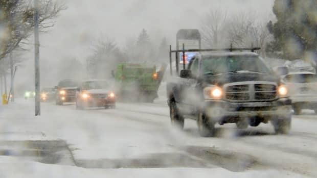 Road conditions are expected to get rough around eastern portions of the island mid-Tuesday morning.