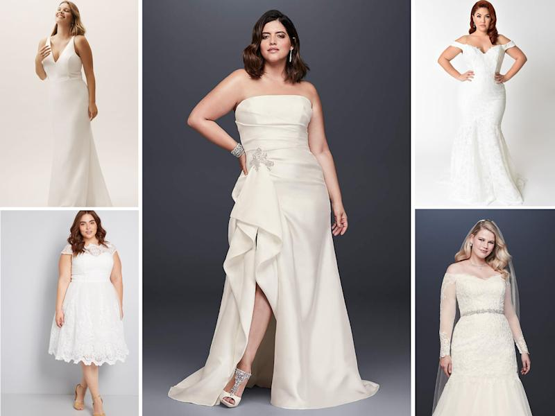 ef0dfd54a82 10 dreamy plus-size wedding dresses for under  1