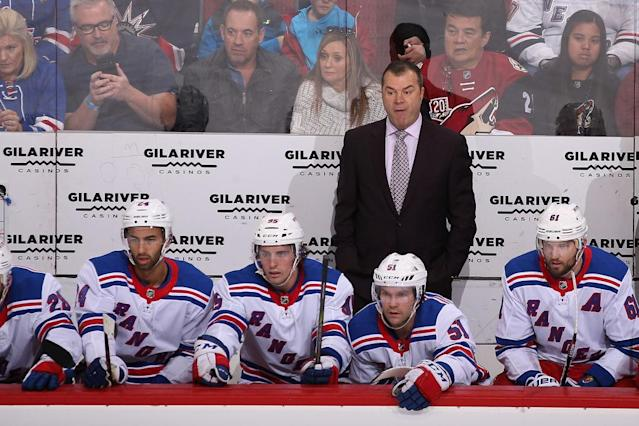 Alain Vigneault is still a good coach, but there's no doubt his seat is warming up. (Getty Images)