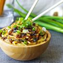 """<p>A noodle bowl in 15 minutes? You better believe it — this quick zesty sauce is even part of that time frame.</p><p><em><a href=""""http://kelleyandcricket.com/sticky-garlic-noodles-ans-famous-garlic-noodles-copycat-15-minutes-gluten-free/"""" rel=""""nofollow noopener"""" target=""""_blank"""" data-ylk=""""slk:Get the recipe from Kelley and Cricket »"""" class=""""link rapid-noclick-resp"""">Get the recipe from Kelley and Cricket »</a></em></p>"""