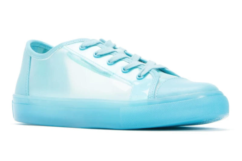 katy perry collections, blue sneakers, pvc