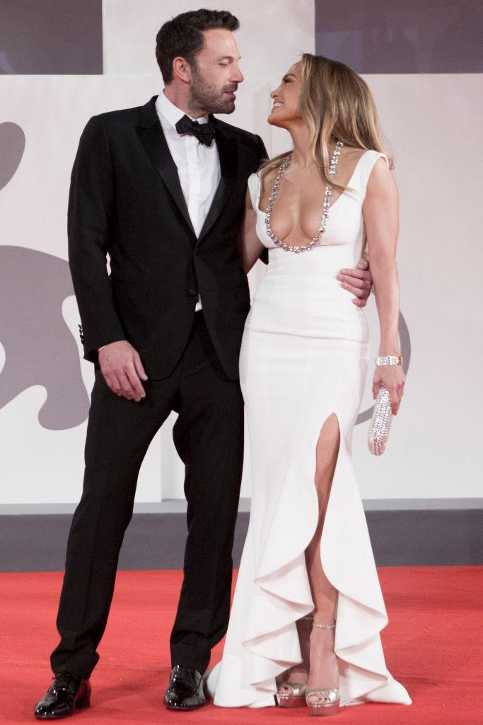 Jennifer Lopez and Ben Affleck went red carpet official at the Venice Film Festival earlier this  month. (Getty Images)