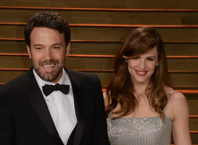Ben Affleck and Jennifer Garner arrive at Vanity Fair's Oscar party in 2014.
