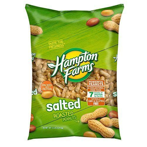 "<p><strong>Hampton Farms</strong></p><p>amazon.com</p><p><strong>$7.38</strong></p><p><a href=""http://www.amazon.com/dp/B00OH27GW2/?tag=syn-yahoo-20&ascsubtag=%5Bartid%7C10055.g.26630133%5Bsrc%7Cyahoo-us"" rel=""nofollow noopener"" target=""_blank"" data-ylk=""slk:Shop Now"" class=""link rapid-noclick-resp"">Shop Now</a></p><p>What's better than a classic ballpark snack like <a href=""https://www.goodhousekeeping.com/home/gardening/a20706839/growing-peanuts/"" rel=""nofollow noopener"" target=""_blank"" data-ylk=""slk:peanuts"" class=""link rapid-noclick-resp"">peanuts</a>?! These legumes are loaded with 4 grams of fiber, 8 grams of protein, and key minerals and antioxidants that make them as good for you as they are filling.</p>"
