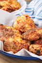 """<p>Imagine the best <a href=""""https://www.delish.com/uk/cooking/recipes/a30038729/best-homemade-fried-chicken-recipe/"""" rel=""""nofollow noopener"""" target=""""_blank"""" data-ylk=""""slk:fried chicken"""" class=""""link rapid-noclick-resp"""">fried chicken</a> you've ever had. Now imagine if it wasn't even fried. Crazy, right? Not with this easy air-fryer fried chicken recipe! The air fryer works some kind of magic on the chicken, and it crisps up into perfectly crunchy chicken as if it had been deep-fried.</p><p>Get the <a href=""""https://www.delish.com/uk/cooking/recipes/a31424359/air-fryer-fried-chicken-recipe/"""" rel=""""nofollow noopener"""" target=""""_blank"""" data-ylk=""""slk:Air Fryer Fried Chicken"""" class=""""link rapid-noclick-resp"""">Air Fryer Fried Chicken</a> recipe.</p>"""