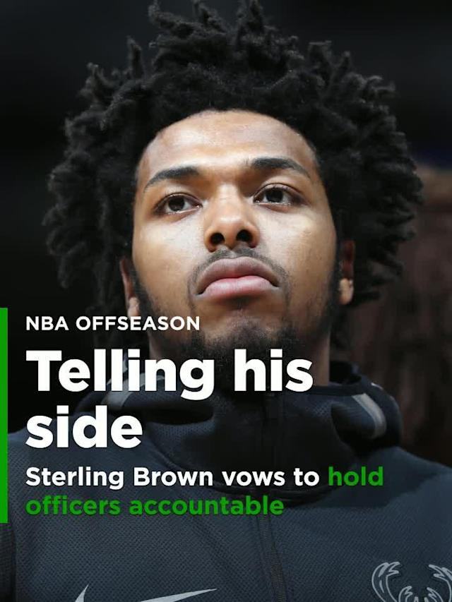 Milwaukee Bucks rookie Sterling Brown vowed to tell his story after he was a victim of police brutality in hopes of preventing future injustices.
