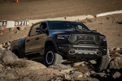 The 702-hp 2021 Ram 1500 TRX is one of seven vehicles from the Alfa Romeo, Chrysler, Jeep® and Ram brands included in the 2021 Car and Driver Editors' Choice list.