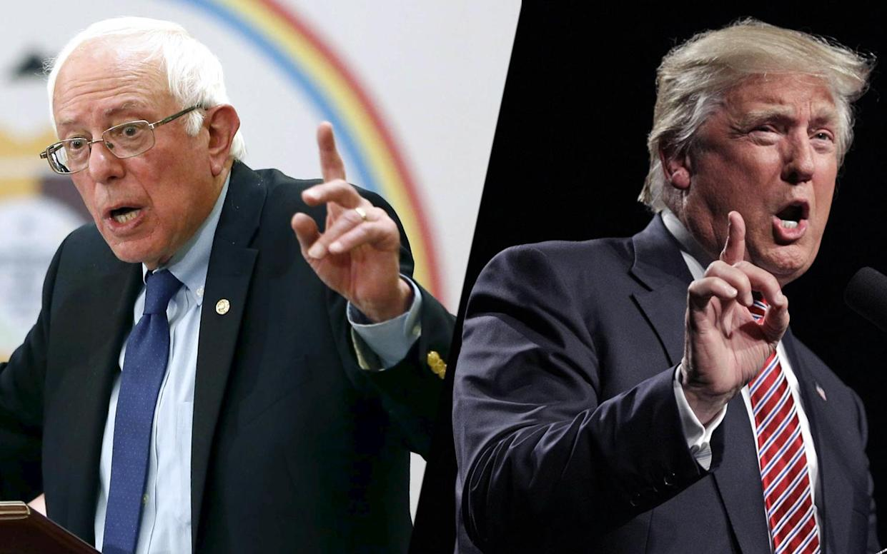 From left, Bernie Sanders and Donald Trump. (Photos: Nancy Wiechec/Reuters; Chuck Burton/AP)