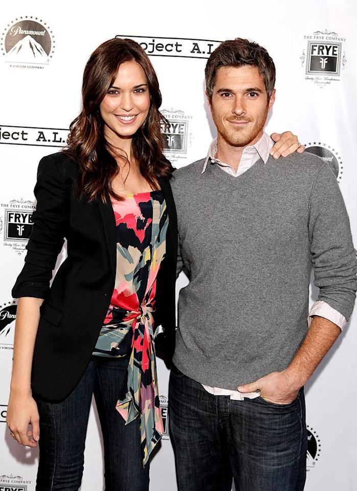 """Newly engaged couple Odette Yustman and David Annable (""""Brothers and Sisters"""") got cozy on the red carpet. Todd Williamson/<a href=""""http://www.wireimage.com"""" target=""""new"""">WireImage.com</a> - April 21, 2010"""