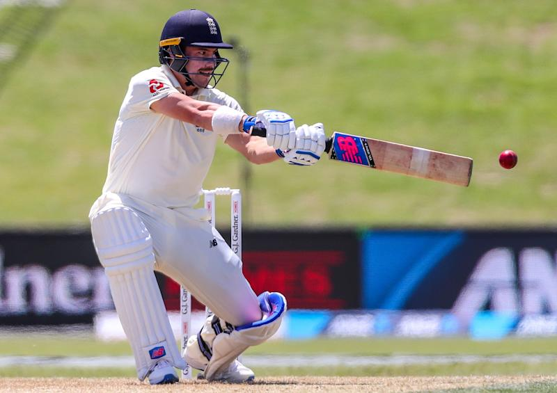 Englands Rory Burns plays a shot during the first day of the first cricket Test between England and New Zealand at Bay Oval in Mount Maunganui on November 21, 2019. (Photo by DAVID GRAY / AFP) (Photo by DAVID GRAY/AFP via Getty Images)