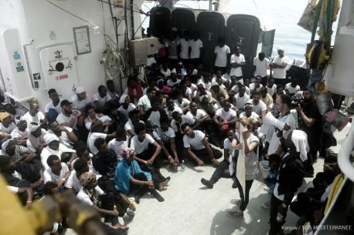Conditions aboard the Aquarius charity boat are cramped