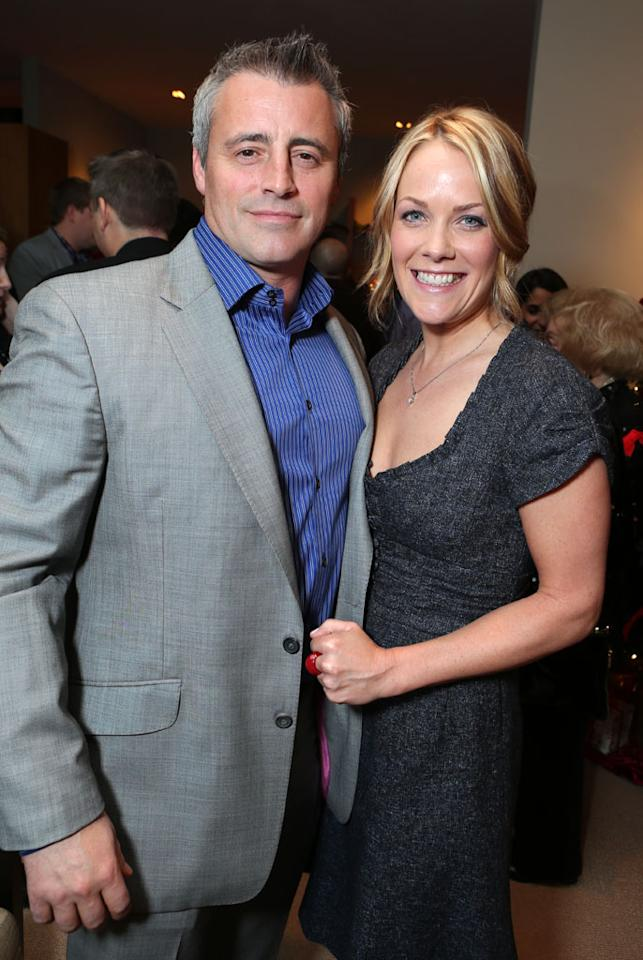 Matt LeBlanc and Andrea Anders at Showtime's 7th Annual Holiday Soiree on December 3, 2012 in Beverly Hills, California.