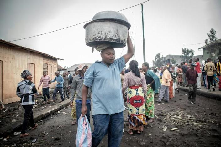 Tens of thousands of Goma residents fled in panic when the much-dreaded volcano began erupting late Saturday